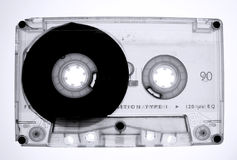 Audio tape. Old áudio tape cassette isolated Royalty Free Stock Photos