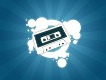 Audio tape background. Music magnetic old tech Royalty Free Stock Photos