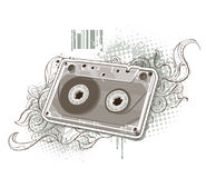 Audio tape on bizarre background Stock Image