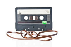 Audio tape cassette record Stock Photos