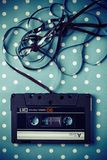 Audio tape cassette. With subtracted out tape Royalty Free Stock Image