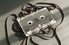Audio tape cassette with subtracted out tape Stock Photos
