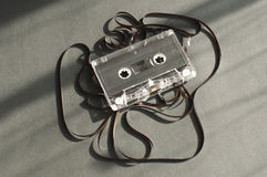 Audio tape cassette with subtracted out tape. Royalty Free Stock Photo