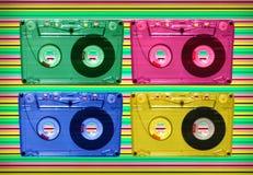 Audio tape disco Royalty Free Stock Photo