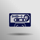 Audio tape icon Stock Photo