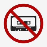 Audio tape icon. No tape. Flat design  illustration Royalty Free Stock Images