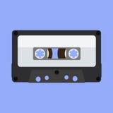 Audio tape icon. Retro cassete. Flat design  illustration Stock Images