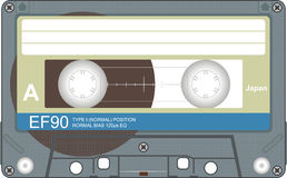 Audio tape illustration Royalty Free Stock Photography