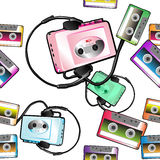 Audio tape pattern Royalty Free Stock Photo