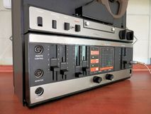 Audio tape recorder old construction Royalty Free Stock Image