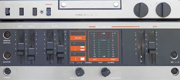 Audio tape recorder old construction Stock Images