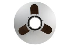 Audio Tape Reel. Two inch wide magnetic audio tape  used for professional multitrack recording Royalty Free Stock Photo