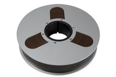 Audio Tape Reel. Two inch wide magnetic audio tape  used for professional multitrack recording Stock Photography
