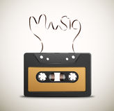 Retro music. Audio tape (retro music). Eps 10 Royalty Free Stock Photography