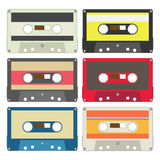 Audio tape set III Royalty Free Stock Photos
