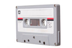 Audio Tape on white background Stock Image