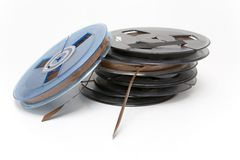 Audio Tapes. Small professional audio tape reels Stock Photography