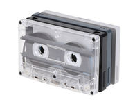 Audio tapes. Pile of old audio tapes isolated on white with clipping path Royalty Free Stock Photography
