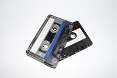 Audio tapes. Old audio tapes. Cassette vintage Royalty Free Stock Photos