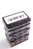 Audio tapes pile Stock Photography