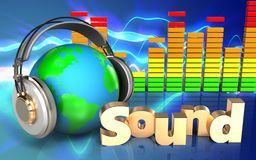 Audio'Ton' Zeichen des spektrums 3d Stockfotos