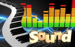 Audio'Ton' Zeichen des spektrums 3d Lizenzfreies Stockbild