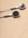 Audio trasduttori auricolari portatili moderni Immagini Stock