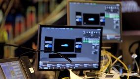 Audio- und Videoausrüstung laufend stock footage