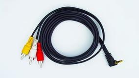 Audio- und videoverbinder stockfoto