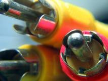 Audio- und videoverbinder stockfotos