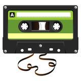 Audio vassoio con nastro adesivo nocivo illustrazione di stock