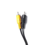 Audio - video analog cable Royalty Free Stock Photography