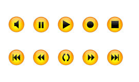 Audio and Video Button Symbols Royalty Free Stock Photos