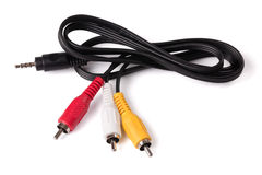 Audio video cable Stock Photography