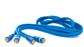 Audio video cable Stock Photo