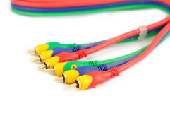 Audio video cable Royalty Free Stock Images