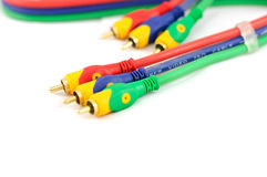 Audio video cable Stock Images