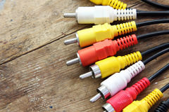 Audio video cable Stock Image