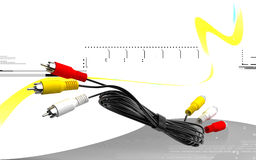 Audio/Video cable. Digital illustration of Audio/Video cable in colour background vector illustration