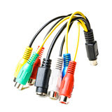 Audio video cable multi purpose adapter Stock Photo