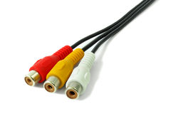 Audio video cable Royalty Free Stock Image