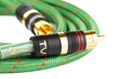 Audio video cable Royalty Free Stock Photos