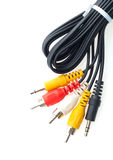 Audio and video cables Royalty Free Stock Image