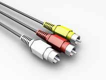 Audio video cables Royalty Free Stock Images