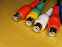 RCA connectors Royalty Free Stock Photography