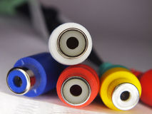 RCA connectors Royalty Free Stock Image