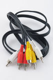 Audio-video cables. Royalty Free Stock Image