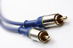 Audio and video cables on white background Stock Image