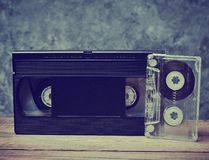 Audio and video cassette close-up royalty free stock photos