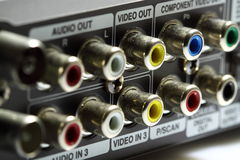 Audio video connections A Stock Image